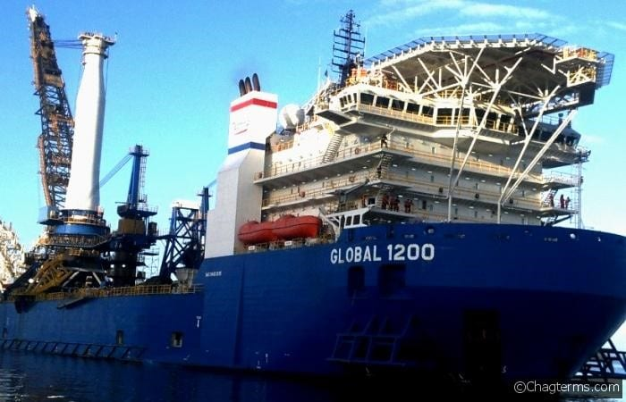 BERTHING OF THE GLOBAL 1200 AT OUR FACILITY WITH STINGER (Large)