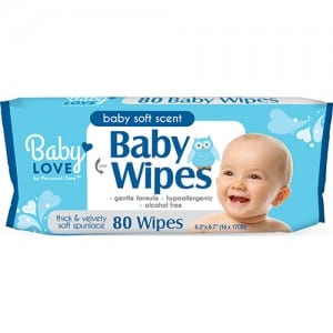 BABY LOVE BABY WIPES BLUE 80CT Image
