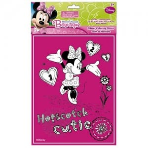 Minnie Mouse Glitter Colouring Sheet Image