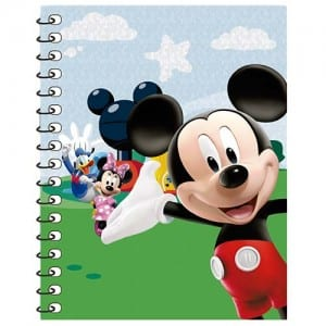 Mickey Mouse Spiral Notebook Image