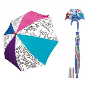 Frozen Colour Your Own Umbrella Image