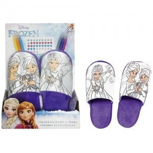 Frozen Colour Your Own Slippers Image
